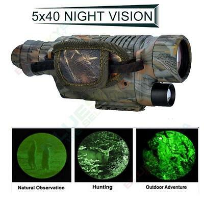 Night Vision Camera Goggles Monocular IR Security Surveillance Hunting scope