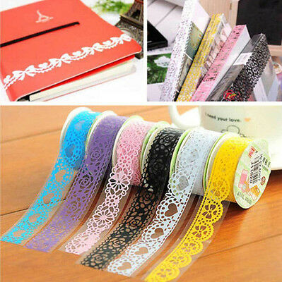 DIY Lace Sticky Paper SELF Adhesive Washi Tape Sticker Scrapbooking Decorative