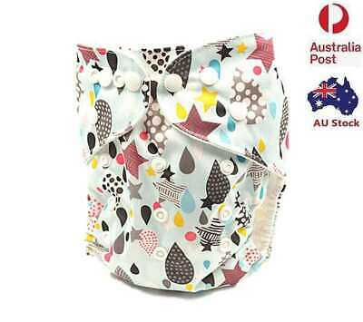 New Waterproof Reusable Baby Girl Modern Cloth Nappies MCN Diaper Nappy (D131)
