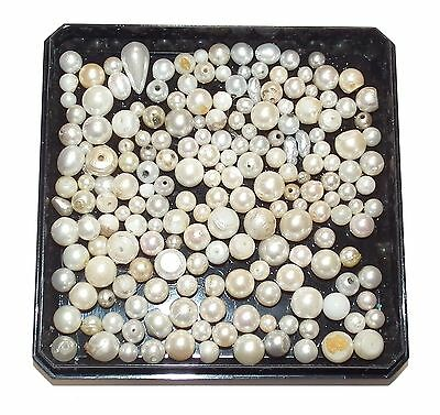 50g Loose Recovered Natural/Faux Pearl Stones #1