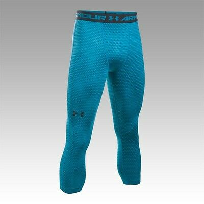Legging de compression 3/4 Under Armour Heatgear imprimé bleu peacock pour homm