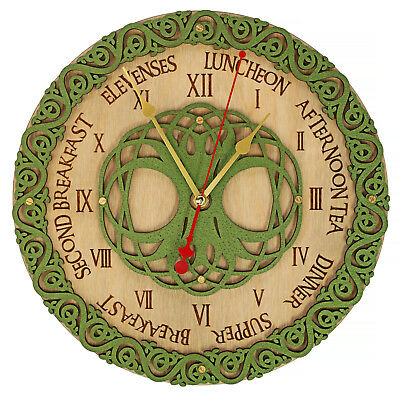 Celtic knots meal times wooden wall clock