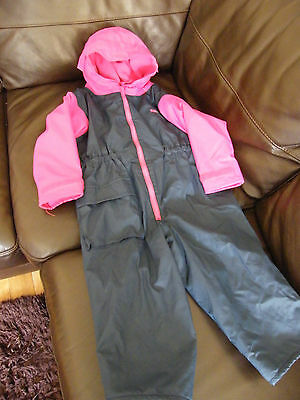 Girls Togz Wellie Weather Dry Suit  Puddle Sut Size 3 Years 104Cm Play Togs Vgc
