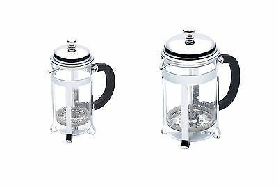 Kitchen Craft Le Xpress Chrome Plated Body Glass Jug Classic Cafetiere