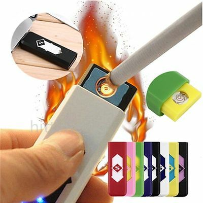 Hot No Gas USB Electronic Rechargeable Battery Flameless Cigarette Lighter NR