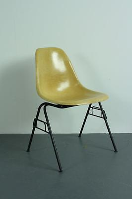All Original Eames Dss Side Chair Herman Miller Stacking Base Midcentury L Ochre