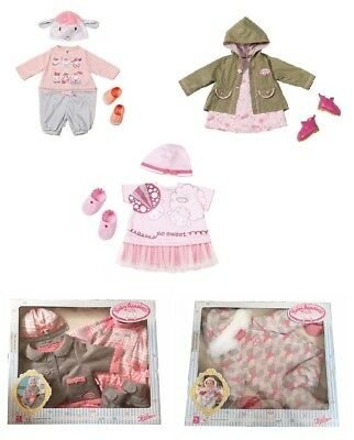 New Zapf Creation Baby Annabell Dolls Deluxe Clothes Outfit Sets