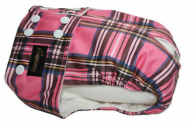 Glenndarcy Dog Nappy Pants I Urine Incontinence I Pink Tartan | Poppers