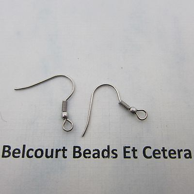 500 Stainless Steel Ear Wires with Loop and Ball 250 Pairs .6mm Size of Wire