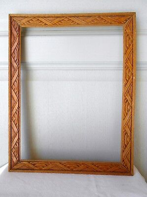 Vintage french wood Picture FRAME Plaque
