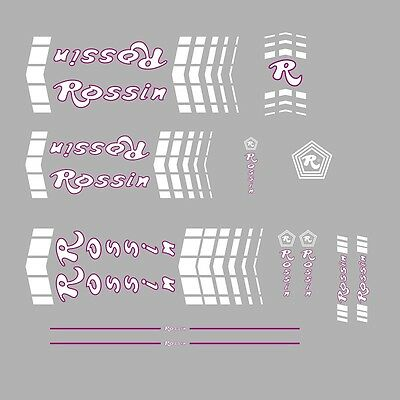 07311 Rossin Bicycle Head Badge Stickers Decals Transfers