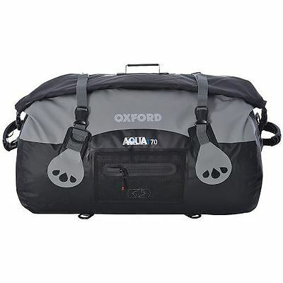 Oxford Aqua T70 Tail Pack Motorcycle Bike Waterproof Roll Top Tail Bag Black 70L