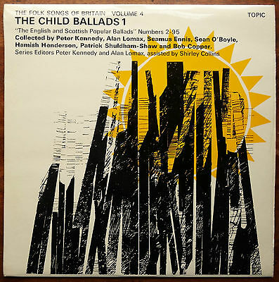 The Folk Songs of Britain, Child Ballads 1 (1969 Topic LP + Insert 12T160)