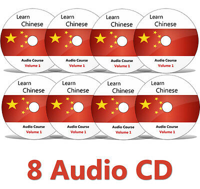 Learn to speak CHINESE Mandarin Complete Language Training Course on 8 AUDIO CD
