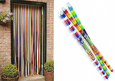 STV BUZZ 90 x 200CM PLASTIC DOOR STRIP CURTAIN FLY INSECT STRIPED BLIND SCREEN
