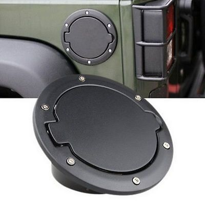 Fuel Filler Door Cover Gas Tank Cap for 2007-2015 Jeep Wrangler JK US SHIPPING