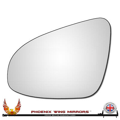 Left Passenger Near Side Convex Wing Door Mirror Glass for TOYOTA AYGO 2005-2012