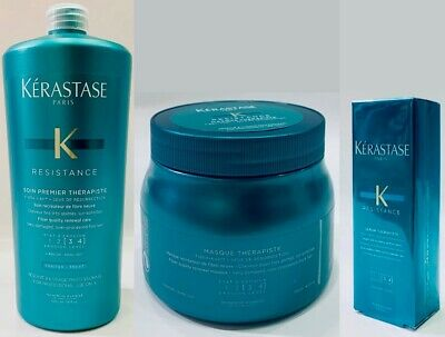 Therapiste : Masque 500ML + Premier 1000ML + Serum 30ML Kerastase + Free Pump