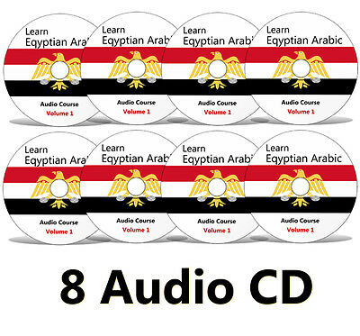 Learn to speak EGYPTIAN ARABIC Complete Language Training Course on 8 AUDIO CDs