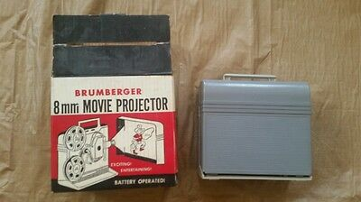 Vintage 1950s Brumberger 8mm Movie Projector #280 in Box