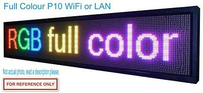LED Sign Scrolling Message Board Programmable - Full Colour RGB Indoor Outdoor