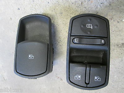 2008 Vauxhall Corsa D Drivers + Passenger Side Electric Window Mirror Switch