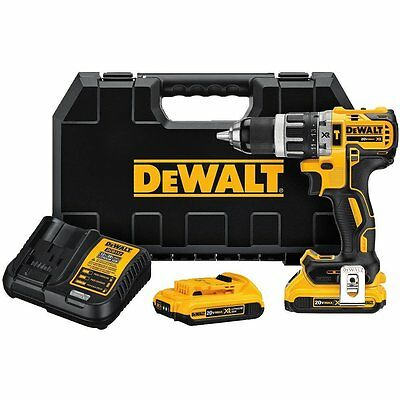 DEWALT DCD796D2 20V MAX XR Li-Ion Brushless Compact Hammer Drill Kit
