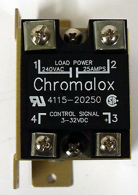 1 New Chromalox 4115-20250 Solid State Relay 240 Vac 25A 3-32 Vdc **make Offer**