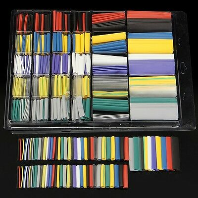 Newest 500Pcs/Set Assorted 10 Color  Sizes 2:1 Heat Shrink Tube Wire Wrap Cable
