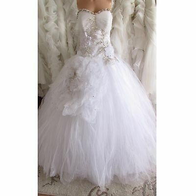 Sparkly Princess Tulle Beaded Wedding Dress 10
