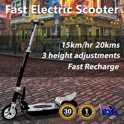 NEW Electric Scooter Adjustable Foldable 140W 24V  Rear Brakes 15kph Kids Teens