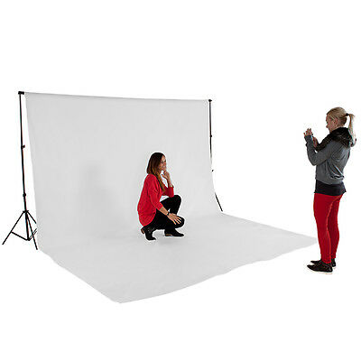 Support de fond blanc studio photo tissu 3x6m kit + sac