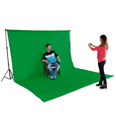 Support de fond vert studio photo tissu 3x6m kit + sac