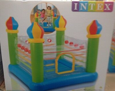 Intex New Jump-O-Lene Jumpolene Bouncy Castle Bouncer Transparent