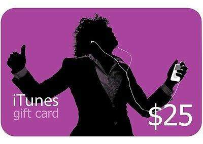iTunes $25 Gift Card/Certificate US Store Worldwide Fast Shipping Apple