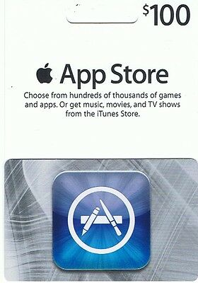 $100 or $50X2 iTunes Gift Card/Certificate US App/Music Store Fast Ship
