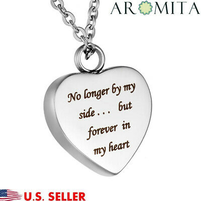 Forever In My Heart Cremation Jewelry Ash Holder Keepsake Memorial Urn Necklace