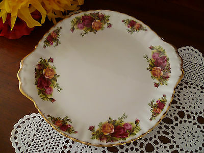1St Quality  Old Country Roses   Cake Plate By Royal Albert  Made In England