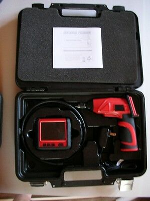Wireless Inspection camera / Scope with recordable Monitor. W/ Dual Camera head