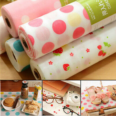 300cm Polka Dots Shelf Paper Cabinet Drawer Liner Kitchen Table Mat Cusion