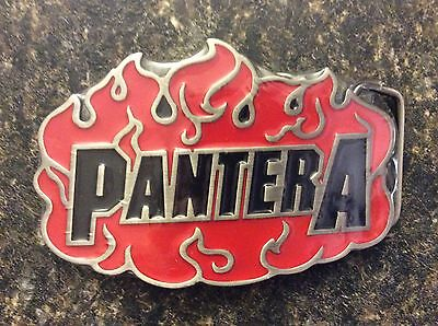 Pantera Red Flame Belt Buckle