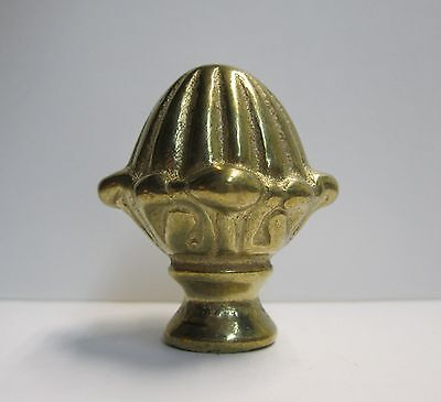 Lamp Finial-Solid Cast Brass ACORN-Nicely Detailed and Heavy