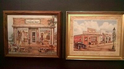 Collection of 2 Coca Cola Framed Prints