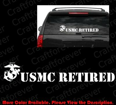 LARGE USMC United States Marine Corps RETIRED DIE CUT Vinyl Decal Sticker AY019