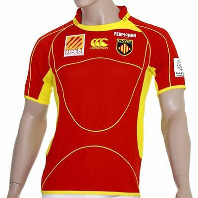 Top 14 France USA Perpignan Rugby Home Jersey