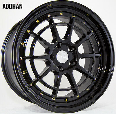 AODHAN AH04 18x9.5 5x114.3 +30 Black (PAIR) wheels