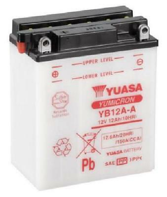 Genuine Yuasa YB12A-A Motorcycle Battery Supplied With Acid Pack