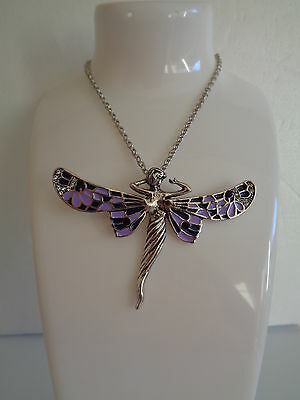 Fairy pendant necklace purple-Aussie seller Brand new in packaging