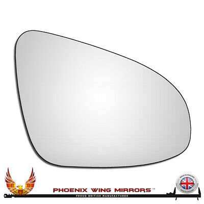 Right hand driver side for Vauxhall Corsa 2014-2016 heated wing mirror glass
