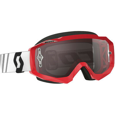 NEW Scott MX Hustle Red Black Silver Chrome Tinted Dirt Bike Motocross Goggles